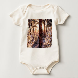 Invierno Ponderosa Starburst Fremont Oregon Trajes De Bebé