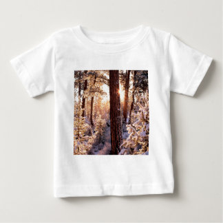 Invierno Ponderosa Starburst Fremont Oregon Camiseta De Bebé