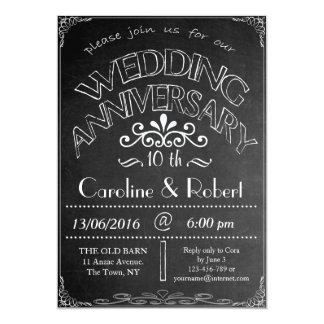 Invitación 10ma del aniversario de boda de la