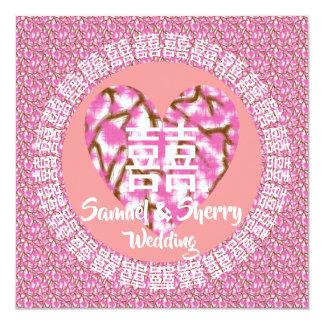 Invitación 11 del boda del tema del flor de Sakura