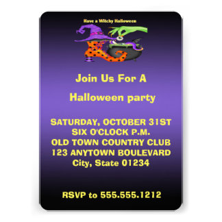 Invitación 12,7 X 17,8 Cm Invitaciones de Witchy Halloween