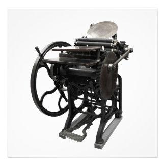 invitación 1888 de la prensa de copiar