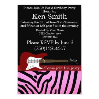 Invitación #18 del cumpleaños de la guitarra