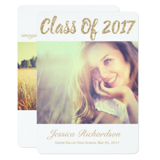 Invitación 2017 de la graduación de la foto del