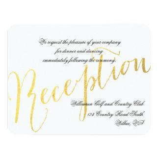 Invitación 2 de la recepción nupcial del encanto invitación 10,8 x 13,9 cm