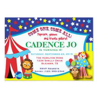 Invitación 2 del circo