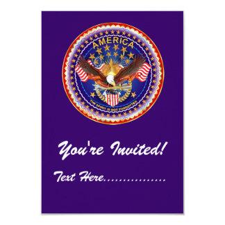 """Invitación 3,5"""" x 5"""" América no olvidada…. Invitación 8,9 X 12,7 Cm"""