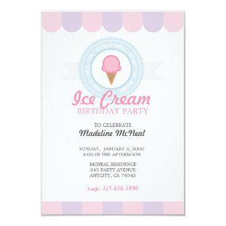 Invitación 3 de la FIESTA de CUMPLEAÑOS del helado
