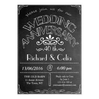 Invitación 40.a del aniversario de boda de la