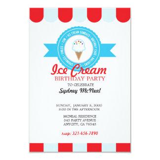 Invitación 4 del CUMPLEAÑOS del helado