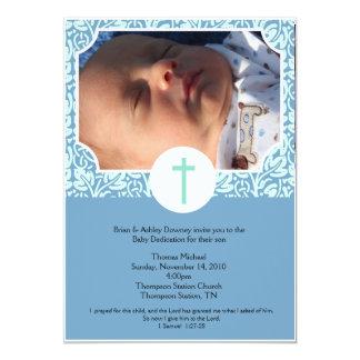 Invitación 5x7 de la foto del bautismo del