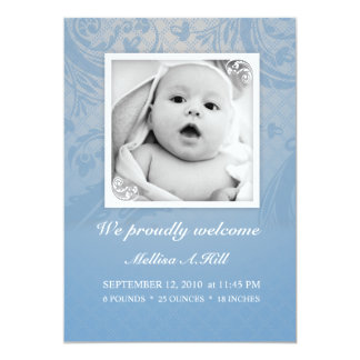 Invitación 5x7 - No.1 del nacimiento