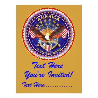 """Invitación 6,5"""" x 8,75"""" América no olvidada…. Invitación 16,5 X 22,2 Cm"""