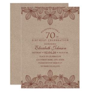 Invitaciones De Cumpleaños 70 O Del Vintage Zazzle Es