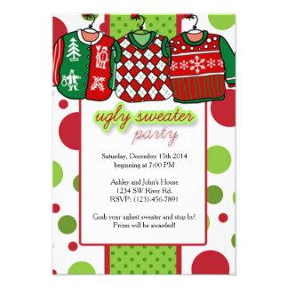 Invitación 8,9 X 12,7 Cm Fiesta feo del suéter del navidad