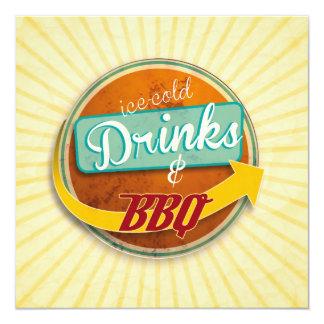 Invitación a LA BBQ en la 50er-Jahre-Style