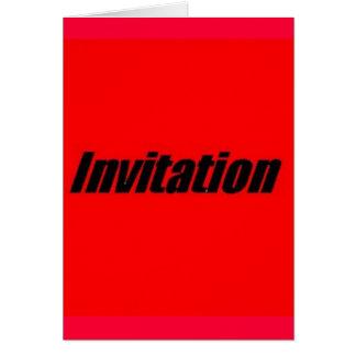 Invitación a la graduación tarjeta de felicitación