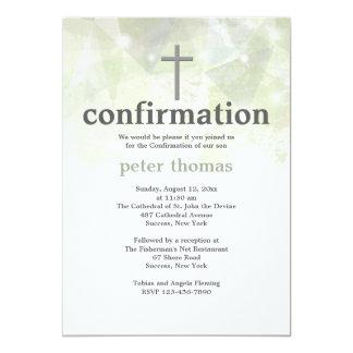 Invitación abstracta de moda de la confirmación invitación 12,7 x 17,8 cm