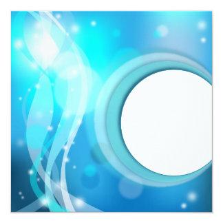 Invitación abstracta del fondo invitación 13,3 cm x 13,3cm