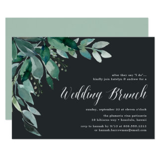 Invitación abundante del brunch del follaje que se