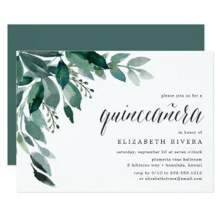 Invitación abundante del follaje el   Quinceanera