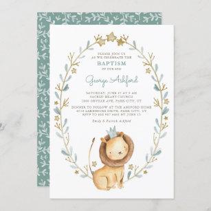 Invitación Acuarela Príncipe Bebé Bautismo