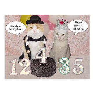 Invitación adaptable de la fiesta de cumpleaños postal