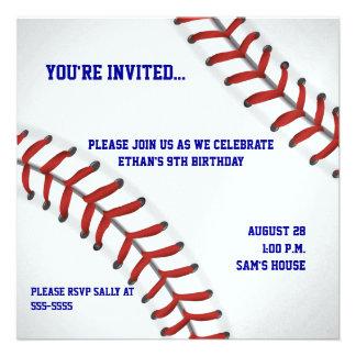 Invitación adaptable del cumpleaños del béisbol