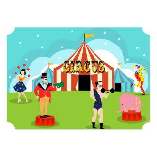 Invitación adaptable del fiesta del circo del invitación 12,7 x 17,8 cm