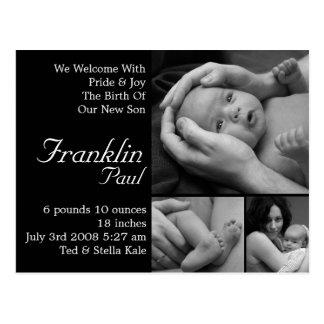 Invitación adaptable del nacimiento modificada postal