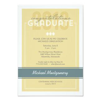 Invitación adaptada de la fiesta de graduación