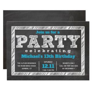 Invitación adolescente del cumpleaños del