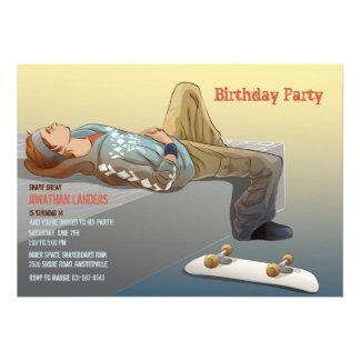 Invitación adolescente del monopatín