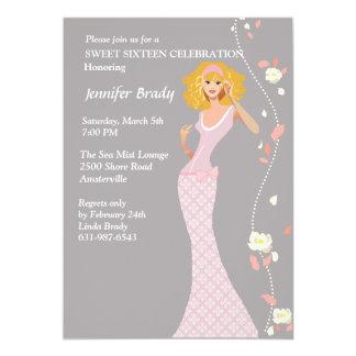 Invitación adolescente del vestido formal
