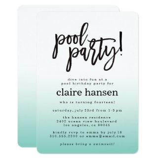 Invitación adolescente elegante del cumpleaños de