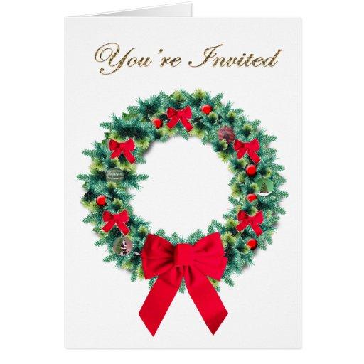 Invitación adornada de la guirnalda tarjeta pequeña