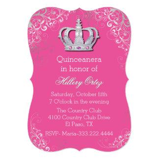 Invitación adornada elegante de Quinceanera de la Invitación 12,7 X 17,8 Cm
