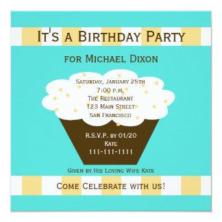 Invitación adulta de la fiesta de cumpleaños -