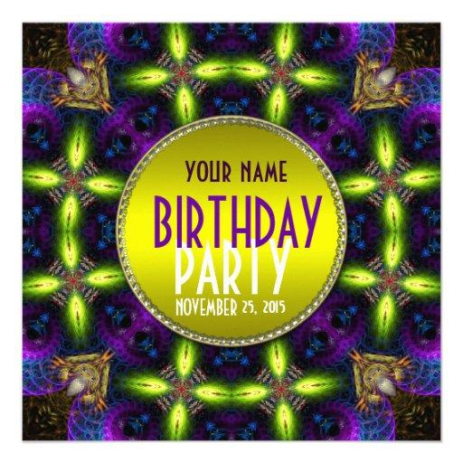 Invitación adulta de la fiesta de cumpleaños del r