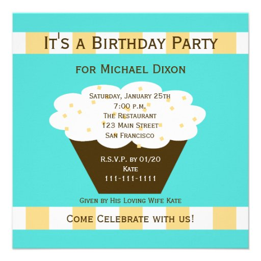 Invitación adulta de la fiesta de cumpleaños - mag