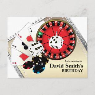 Postales Cumpleaños Vegas De Tarjetas postales | Zazzle.es