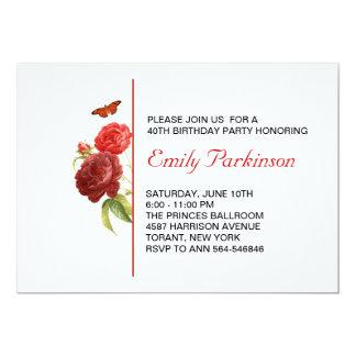 invitación adulta del cumpleaños invitación 12,7 x 17,8 cm