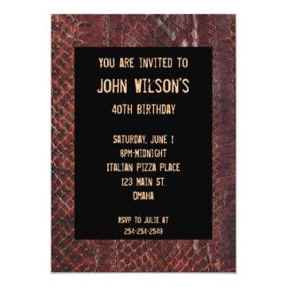 Invitación adulta del cumpleaños de Brown