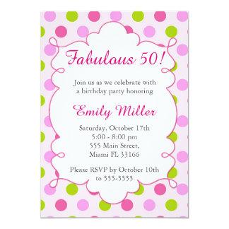 Invitación adulta del cumpleaños de la verde menta