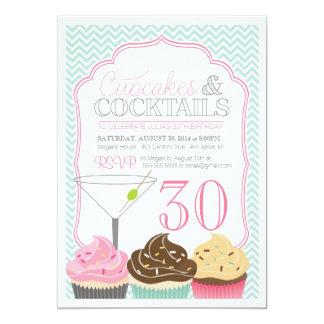 Invitación adulta del cumpleaños de las magdalenas invitación 12,7 x 17,8 cm