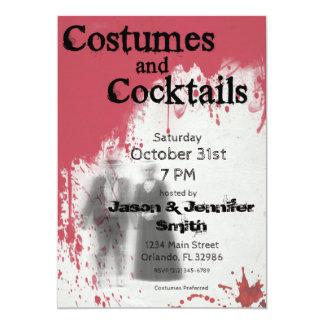 Invitación adulta del fiesta de Halloween del