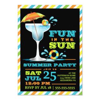 Invitación adulta del fiesta del verano de los
