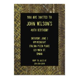 Invitación adulta verde del cumpleaños de