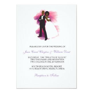 Invitación afroamericana del boda