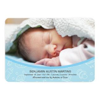 Invitación agradable del nacimiento de la foto del